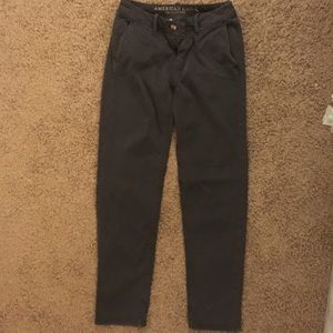 American Eagle Tomgirl Jeans 00R, Smooth Grey